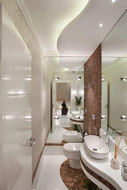 Sanca de gesso o que pre os 70 modelos impressionantes for Ideas para lavabos pequenos