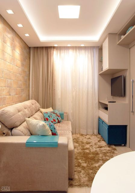Sanca de gesso o que pre os 70 modelos impressionantes for Modelos de apartamentos pequenos