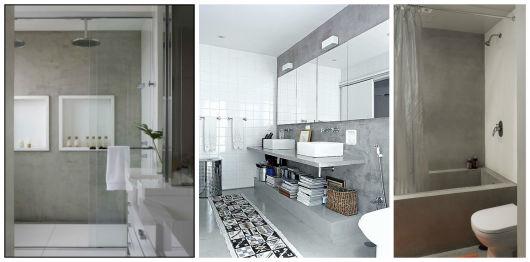 BANHEIRO CINZA acabamentos e decoração! -> Decoracao De Banheiro Branco E Cinza