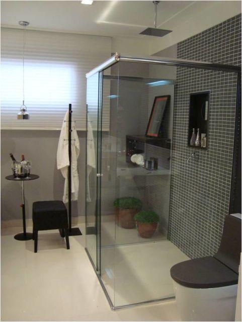 BANHEIRO CINZA acabamentos e decoração! -> Armario De Banheiro Cinza