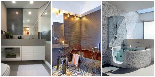 BANHEIRO CINZA 30 Ideias de Acabamentos e Decoração! -> Banheiro Cinza Moderno