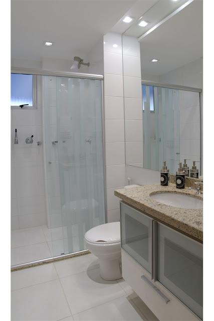 BANHEIRO SIMPLES 45 Dicas, Acabamentos e como Decorar! -> Projeto Banheiro Simples