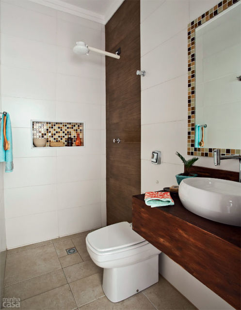 BANHEIRO SIMPLES tipos de acabamentos e como decorar! -> Banheiro Simples Para Area De Lazer
