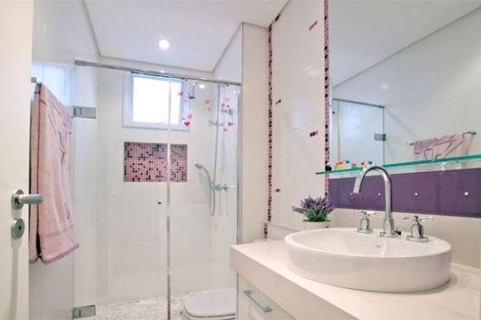 BANHEIRO SIMPLES 45 Dicas, Acabamentos e como Decora -> Decorar Banheiro Simples