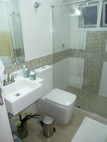 BANHEIRO SIMPLES 45 Dicas, Acabamentos e como Decorar! -> Banheiros Simples Pintados