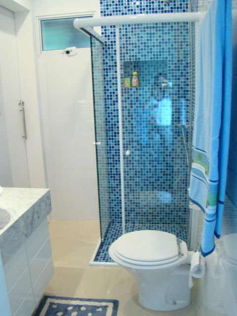 BANHEIRO SIMPLES tipos de acabamentos e como decorar! -> Banheiro Pequeno Creme
