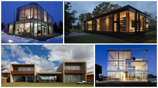 Casa de vidro 30 fachadas e projetos for Fotos de casas modernas terreas