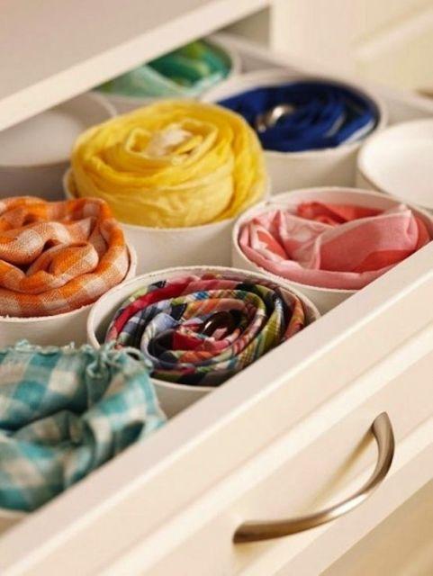 como guardar lenços