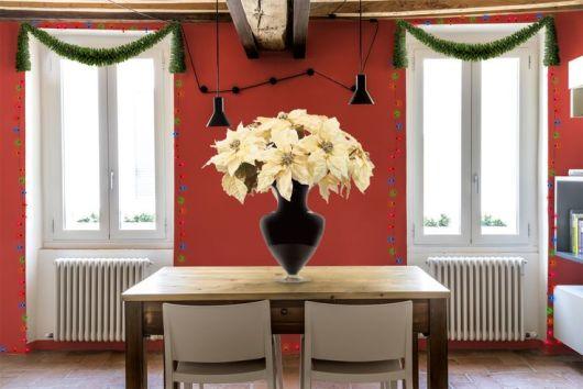 sala de jantar decoração natal