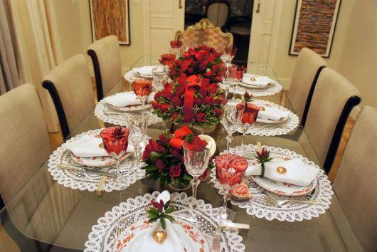 decoração de jantar a mesa