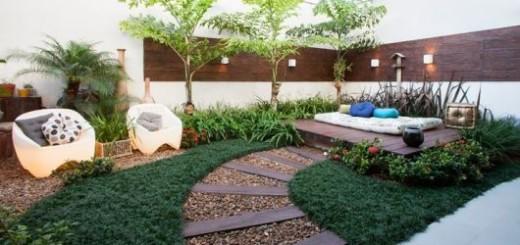 jardim com futon