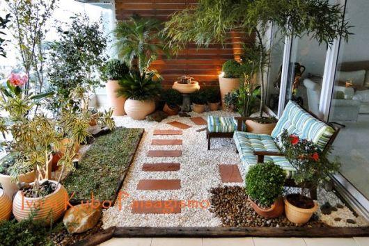 Jardim com pedras tipos e fotos for Jardines pequenos simples
