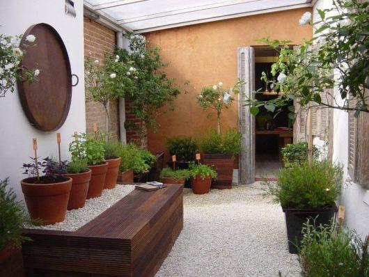 jardim com temperos frescos