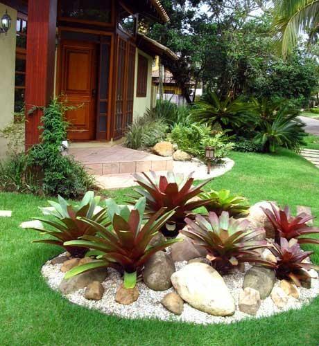 pedras de jardim branca : pedras de jardim branca:Rock Gardens with Bromeliads