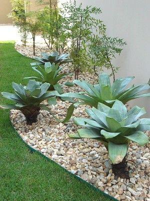 Jardim com pedras tipos e fotos for Jardines redondos pequenos