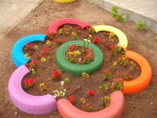 Colorido Da Demarcação Dá Alegria A área Externa~ Ideias Sustentaveis Jardim