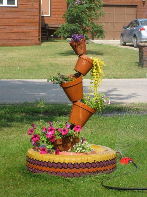 Jardim com Pneus Como Fazer e Fotos Lindas!  Blog Siote