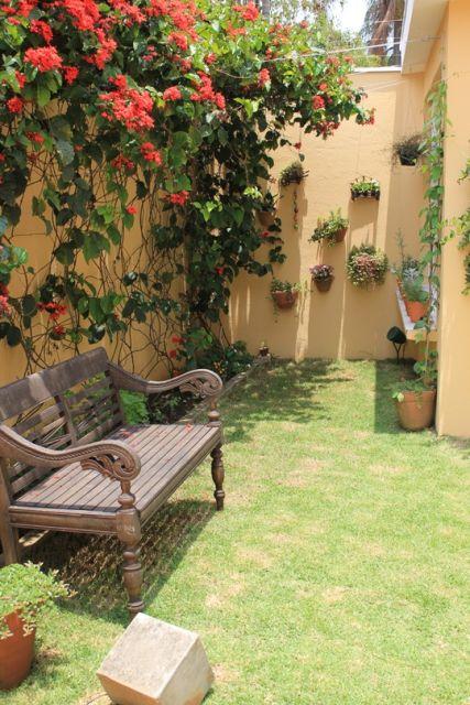 ideias para jardim simples:JARDIM SIMPLES: 30 ideias econômicas!