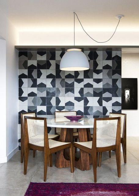 ... que decora a parede e cria um visual incr?vel para a sala de jantar