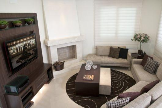 Projetos De Sala De Tv Com Lareira ~ LAREIRA DE CANTO modelos e como usar na decoração!
