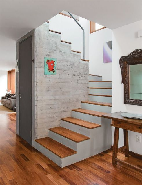 Lavabo embaixo da escada 25 ideias para decorar for Modelos para pintar paredes interiores