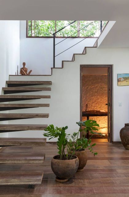 LAVABO EMBAIXO DA ESCADA 25 ideias para decorar! -> Banheiro Pequeno Embaixo De Escada