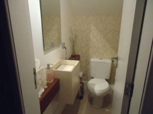 papel de parede lavabo