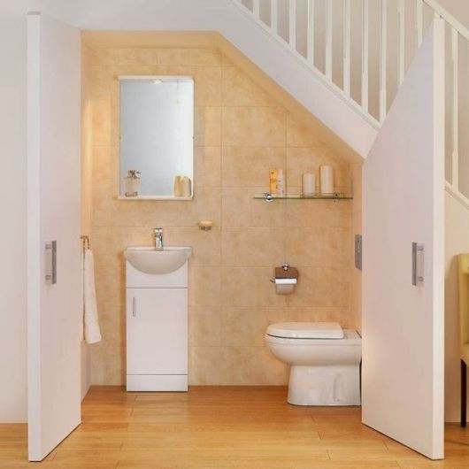 Lavabo embaixo da escada 25 ideias para decorar for Ideas para lavabos pequenos