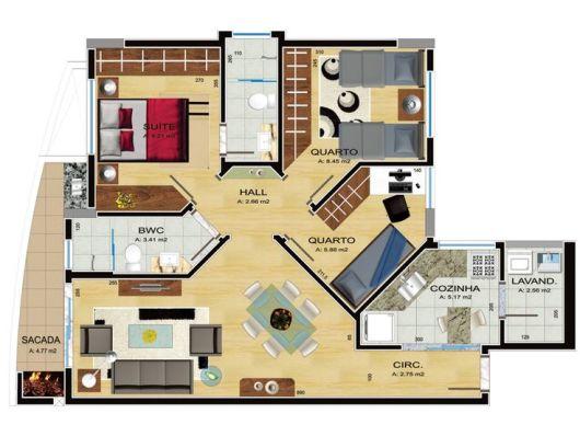 50 modelos de casas pequenas plantas e projetos for Casa moderna 90m2