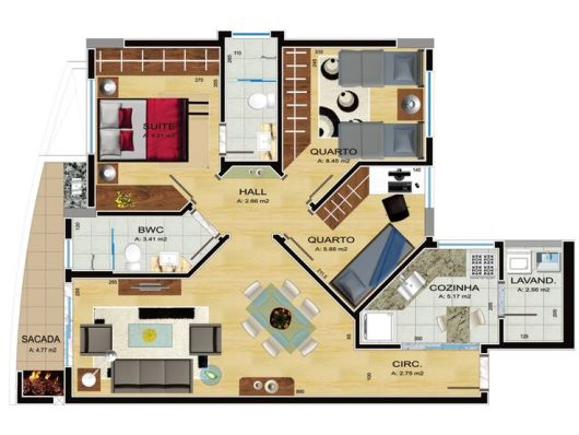 50 modelos de casas pequenas plantas e projetos for Casas pequenas de una planta modernas