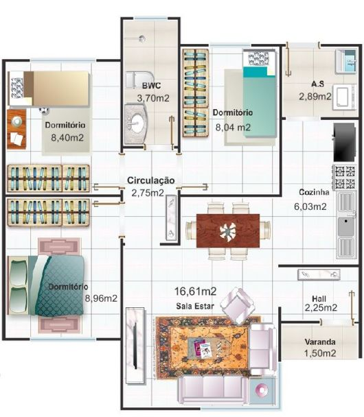 50 modelos de casas pequenas plantas e projetos for Casas pequenas de una planta