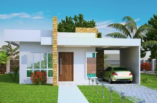 50 modelos de casas pequenas plantas e projetos for Fachadas modernas de casas pequenas