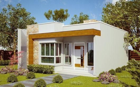 50 modelos de casas pequenas plantas e projetos for Ideas economicas para decorar una casa pequena