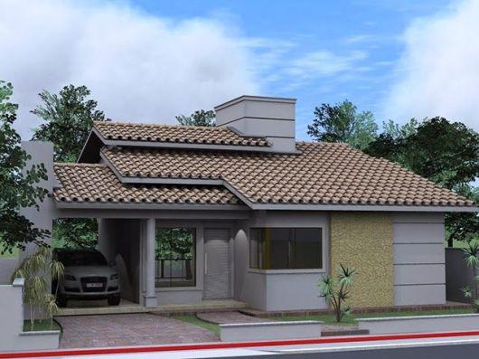 50 modelos de casas pequenas plantas e projetos for Modelos parrillas para casas