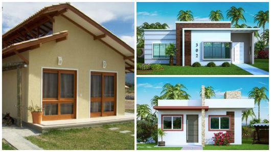 50 modelos de casas pequenas plantas e projetos - Casas de campo pequenas ...