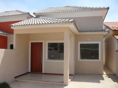 50 modelos de casas pequenas plantas e projetos for Casas con piscina interior fotos