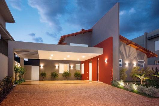 fachada simples e moderna