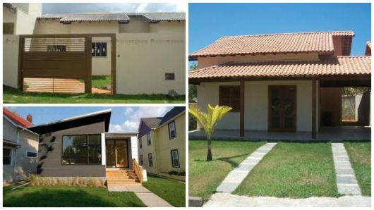 50 modelos de casas pequenas plantas e projetos for Casas modernas simples