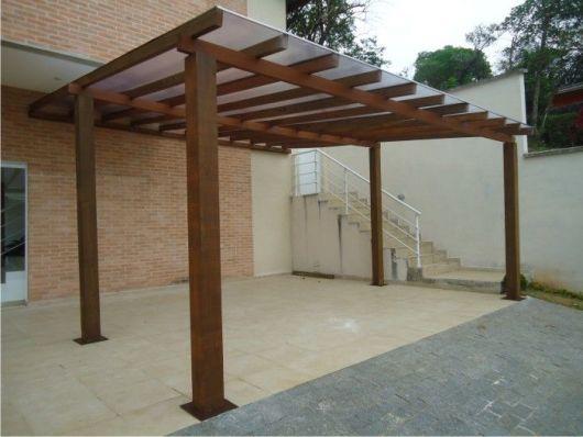 30 modelos de garagem dicas e ideias - Tipos de toldos para patios ...