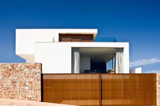 Muros modernos 35 fotos e ideias - Pintura casa moderna ...