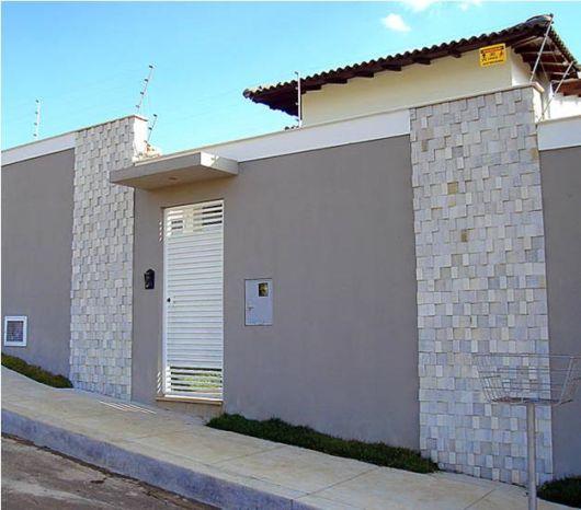 Muros modernos 35 fotos e ideias - Pinturas para fachadas exteriores fotos ...
