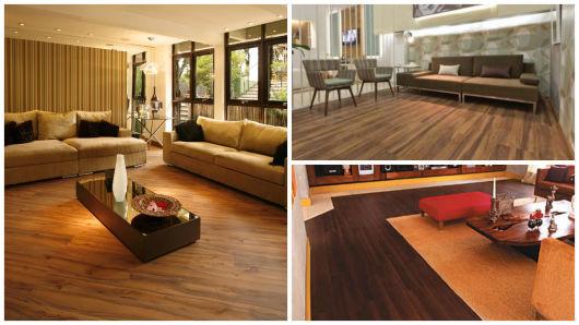 piso que imita madeira escura
