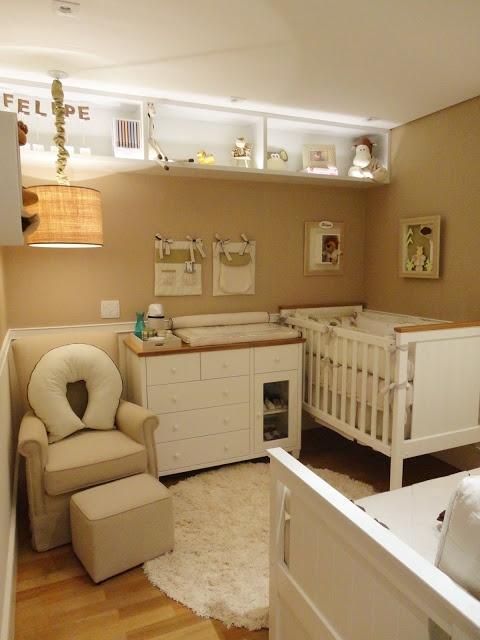 Tapete Safari Quarto Bebe : No quarto de menininho, o branco e bege s?o predominantes, mas para