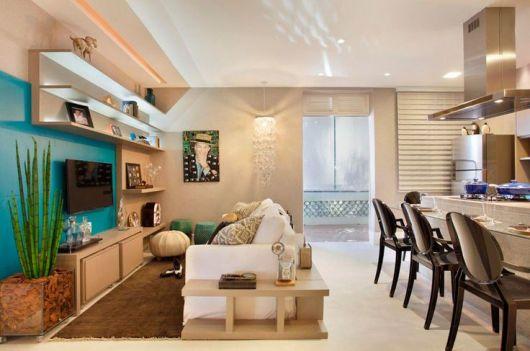 Vasos Na Sala De Tv ~ SALA DE TV MODERNA 30 ideias de como decorar!