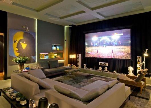Sala De Tv Aconchegante ~ SALA DE TV MODERNA 30 ideias Incríveis de Como Decorar!
