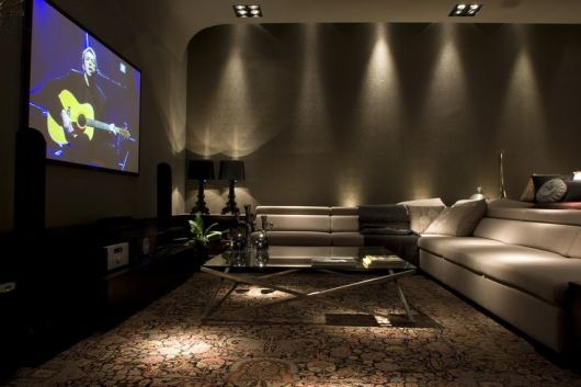 Sala De Estar Moderna Com Tv ~ SALA DE TV MODERNA 30 ideias Incríveis de Como Decorar!