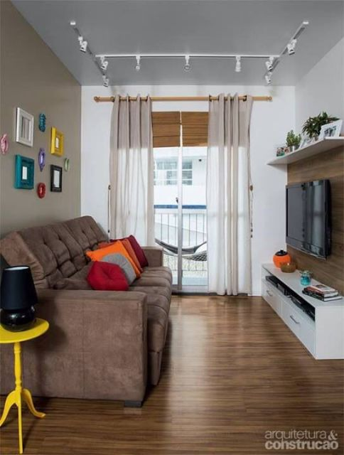 Como Decorar Sala De Tv Moderna ~ não é motivo para não ter uma decor atual Neste projeto, a sala de