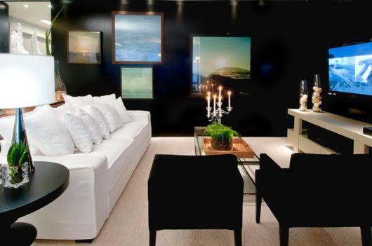 Como Montar Uma Sala De Tv Moderna ~ SALA DE TV MODERNA 30 ideias Incríveis de Como Decorar!