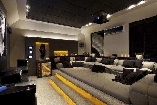 decoração moderna home theater