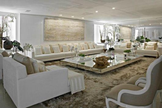 sala de estar moderna e sofisticada